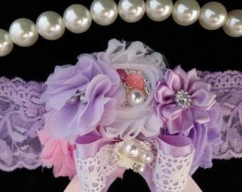Lavender Headband/Shabby Chic Headband/Newborn Headband/Baby Headband/Infant Headband/Toddler Headband/Girls Headband/Baby Girl Headband