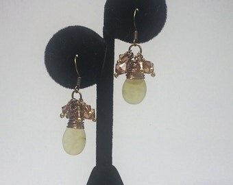 Antique Soocho Jade Briolette Earrings