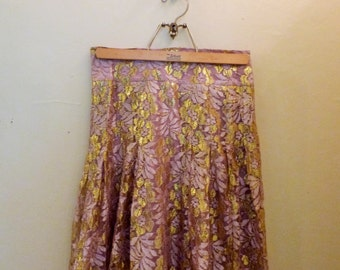 Vintage Pink and Gold Lace Fairy Skirt