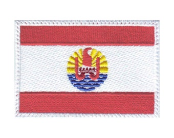 Tahiti Flag Embroidered Patch