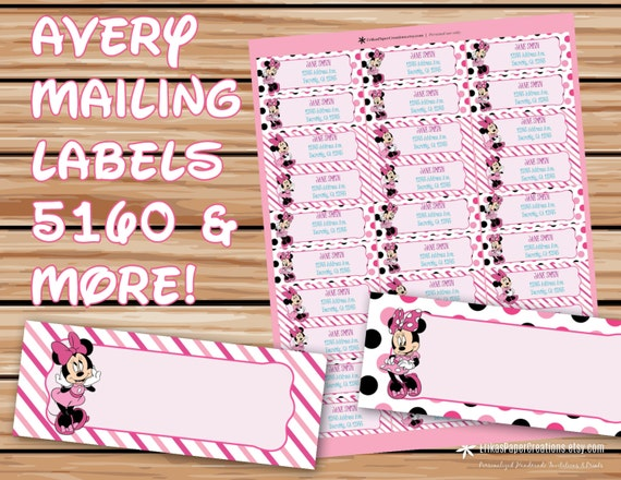 avery 5630 template - minnie mouse editable mailing labels avery by