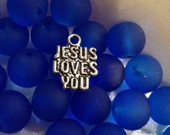 Jesus Loves You Charms