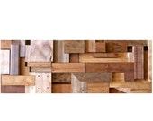 Reclaimed wood art/ Wood Wall Art/ Scrap Wood Art/ Hanging Wood Art