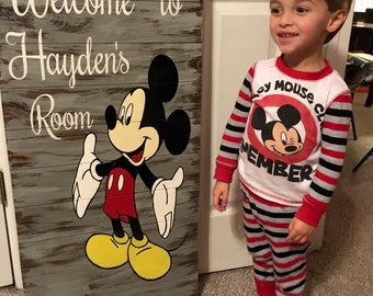 Mickey Mouse Bedroom Welcome