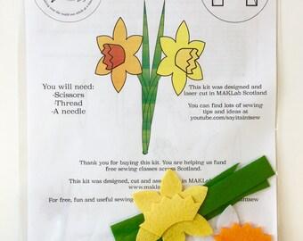 Say It Ain't Sew Daffodils kit