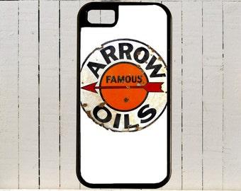 Vintage Roadside Arrow Oil Circular Sign  PhoneCases 4, 4S, 5, 5C 6, 6+, Samsung Galaxy 3, 4, 5, 6, Edge