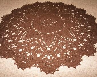 Crochet rug, doily rug, giant doily, pineapple rug, lacy rug, vintage design rug, handmade rug