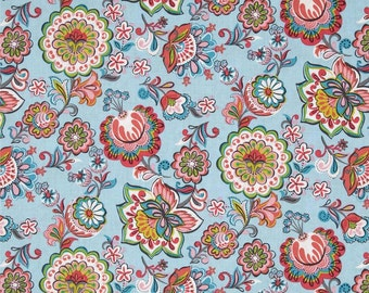 Blend Fabrics - Babushka Light Blue - Riding Hood Collection - 114.109.03.2