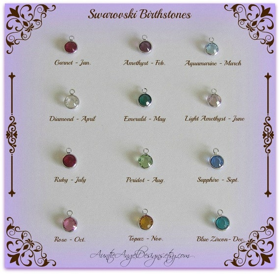 Swarovski birthstone crystal charm to add to your jewelry design
