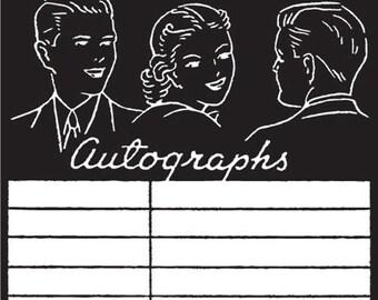 """Jenni Bowlin Studios Vintage """"Autographs"""" Clear Stamp"""