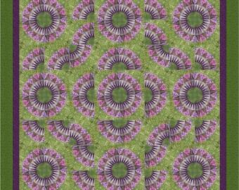"New York Beauty Quilt - ""Grandma's Flower Garden"""
