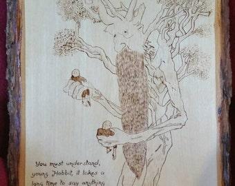Treebeard and the hobbits