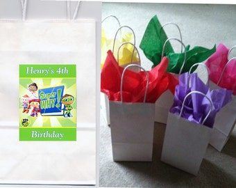 Super Why party favor goody bags personalized set of 10