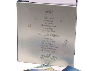 Personalized Tiny Soul New Baby Silver Album