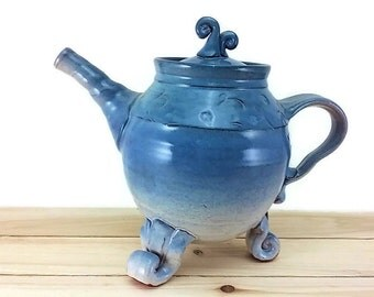 tea pot Teal Blue Ceramic Tea Pot pottery teapot tea service set tea steeper tea cup tea pot ceramic ceramic pot tea brewer