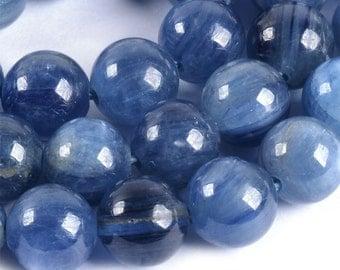 "8mm188 Natural A Grade Kyanite round ball loose gemstone beads 16"""