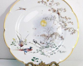 """Vintage Haviland Limoges Collectors Plate, Wall Decor, Theatre des Saisons, """"Automne"""" by Felix Bracquemond Limited Edition"""