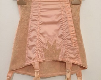 Vintage 50s burlesque corset garters suspenders lingerie control brief