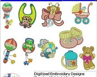 Embroidery Design CD - Baby(3) - 10 Designs - 9 Formats - Threadart