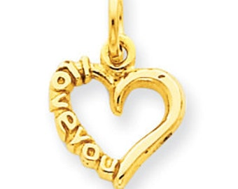 I Love You Heart Pendant (JC-822)