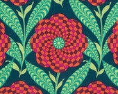 One Yard - 1 Yard - Zebra Bloom in Ink - ETERNAL SUNSHINE Collection by Amy Butler