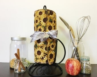 Unpaper Towels --- SUNFLOWERS --- Reusable Towels Paperless Kitchen Towels
