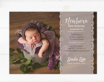 DIY - Newborn Mini Session Template - Instant Download 005