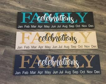 Family Celebrations Sign