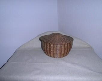 Vintage Hand Made Pine Needle Basket