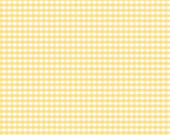 Small Gingham Yellow 1/8 inch - C440-50 Yellow - by Riley Blake Designs