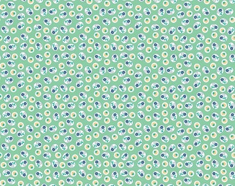 Calico Days Mint Calico Strawberry - C6037-Mint by Lori Holt of A Bee in My Bonnet for Riley Blake Designs