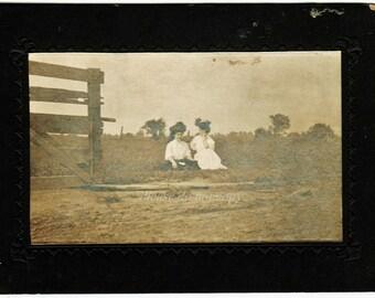 Victorian Cabinet Card Photo ~ Americana ~ circa 1880's Farm Life