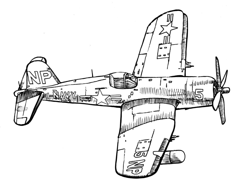 Vintage Biplane Coloring Pages