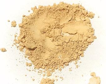 CREAMY YELLOW Titanium Free Mineral Foundation - Multi Tasking Loose Powder - Gluten Free Vegan Makeup Samples and Full Size