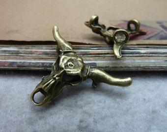 10 pcs 38x26mm Antique bronze Heavy Thick bulls cows Heads Charms Pendants
