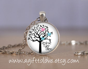SALE! Personalized Pendant with Children's Names - Gift for Mom, Grandmother,  Aunt