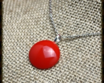 Hott Button Necklace in Red