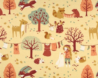 Laundry Day (Organic Canvas Fabric) by Teagan White from the Acorn Trail collection for Birch Fabrics