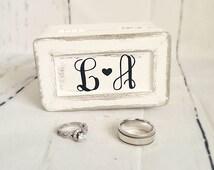 Ring box,wedding ring box,rustic wedding,ring bearer box