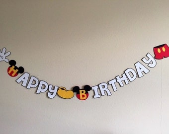Mickey Happy Birthday Banner