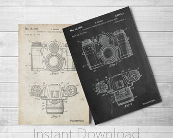 Camera Printables, Camera Patent, Camera Print, Camera Art, Camera Wall Art, PP0006