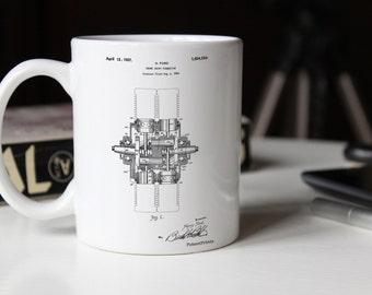 Crank Shaft 1920 Patent Mug, Henry Ford, Car Part Mug, Car Enthusiast, Garage Mug, PP0838