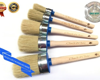 Pure Bristle Paint Brush Uk Oval Shaped