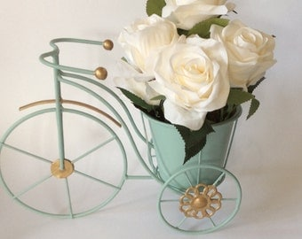 Vintage Penny Farthing bicycle home decor planter wedding table decor