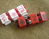 Mahjong Gift - Rose or White Mahjong Bracelet - Mahjong Jewelry - Oriental Bracelet - Pink Mahjong - Oriental Jewelry