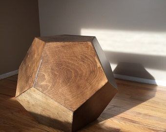 Dodecahedron Table - Walnut