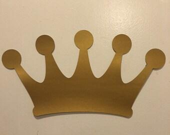 16 inch die cut reversible gold/ silver crown