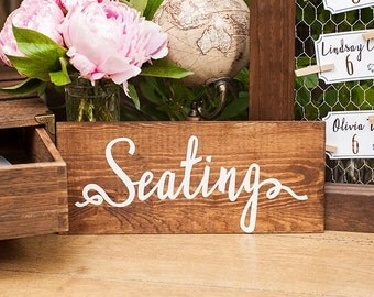 Rustic Wedding Seating Assignments