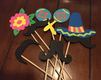 FIESTA Photo booth Props (Set of 7)