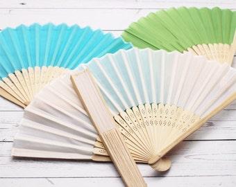 10 pcs Silk Hand Fans